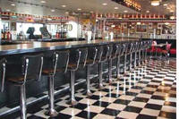 Floor Mounted Backed Stools